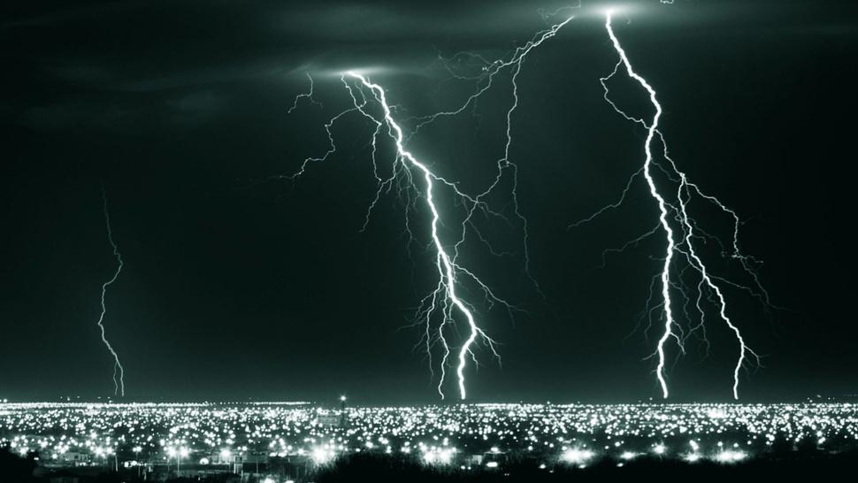 Lightning is a massive electrostatic discharge between ...